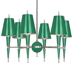 Versailles Chandelier (Emerald with Emerald/Brass) -OPEN BOX RETURN