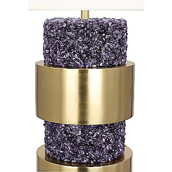 Polished Purple Stone Accents finish / Detail shot