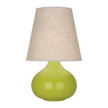 Shown in Apple Glazed Ceramic finish, Buff Linen shade