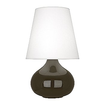 Shown in Brown Tea  Glazed Ceramic finish, Oyster Linen shade