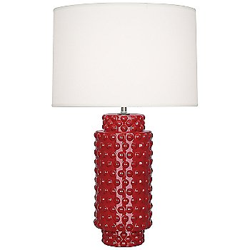 Shown in Ruby Red Glazed Textured Ceramic finish