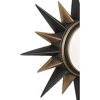 Deep Patina Bronze with Warm Brass finish / Detail shot