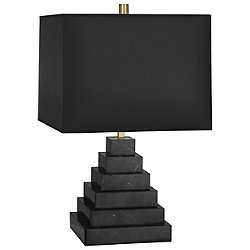 Canaan Tiered Table Lamp  (Black Marble w/ Black)-OPEN BOX