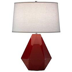 Delta Table Lamp by Robert Abbey (Oxblood) - OPEN BOX RETURN