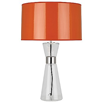 Orange Ceramik Parchment Shade with Silver Mylar Lining, Large size