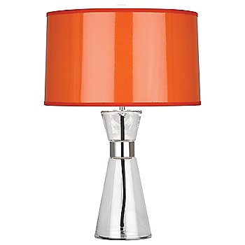 Orange Ceramik Parchment Shade with Silver Mylar Lining, Small size