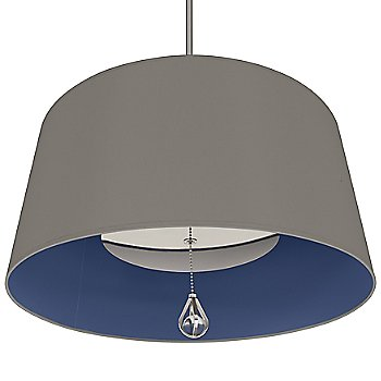 Carter Grey Shade with Ink Blue Interior / Polished Nickel finish