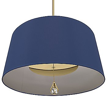 Ink Blue Shade with Carter Grey Interior / Modern Brass finish / illuminated