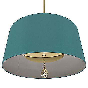 Mayo Teal Shade with Carter Grey Interior / Modern Brass finish / illuminated