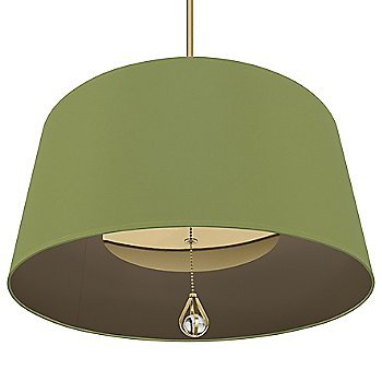 Parrot Green Shade with Revolutionary Storm Interior / Modern Brass finish / illuminated