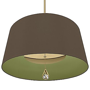 Revolutionary Storm Shade with Parrot Green Interior / Modern Brass finish / illuminated