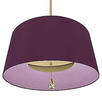 Greenhow Grape Shade with Ludwell Lilac Interior / Polished Nickel finish / illuminated