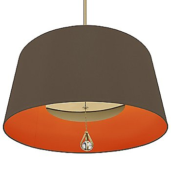 Revolutionary Storm Shade with William of Orange Interior / Modern Brass finish / illuminated
