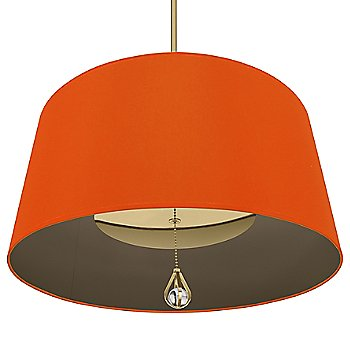 William of Orange Shade with Revolutionary Storm Interior / Modern Brass finish / illuminated