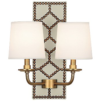 Bruton White color / Aged Brass finish