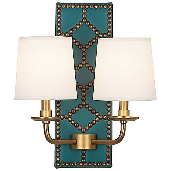 Mayo Teal color / Aged Brass finish