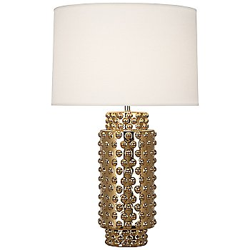 Shown in Fondine Fabric shade, Gold Metallic finish