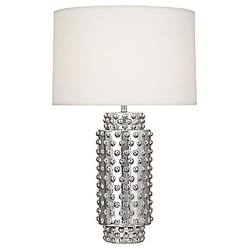 Shown in Fondine Fabric shade, Nickel Metallic finish