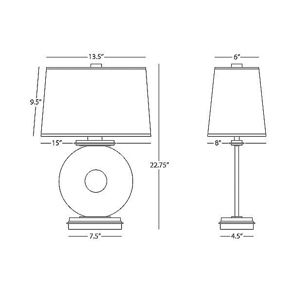 Tic-Tac-Toe O Table Lamp