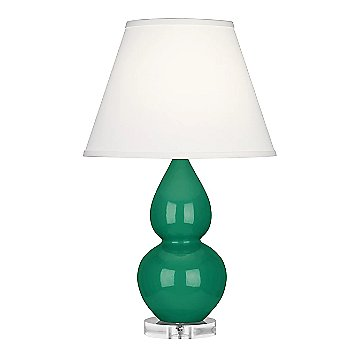 Emerald color / Pearl Dupioni Fabric Shade