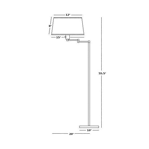 Real Simple Swing Arm Floor Lamp