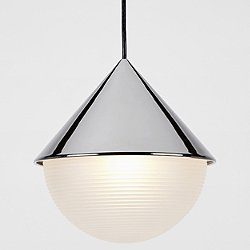 Half and Half Hemisphere Pendant Light