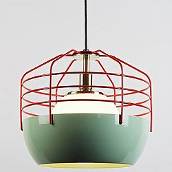 Bluff City 14 Inch Pendant (Mint/Red) - OPEN BOX RETURN