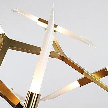 Brushed Brass finish / angle cut glass