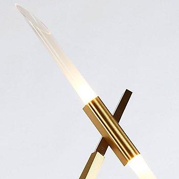 Brushed Brass finish / angle cut glass / Detail view