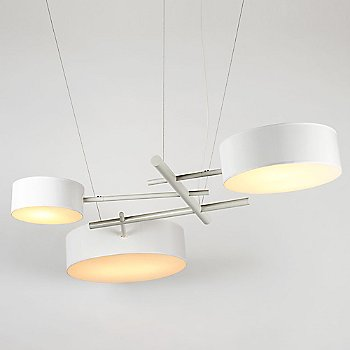 White shade / illuminated / in use
