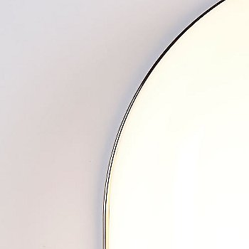 Polished Nickel finish / White / detail view