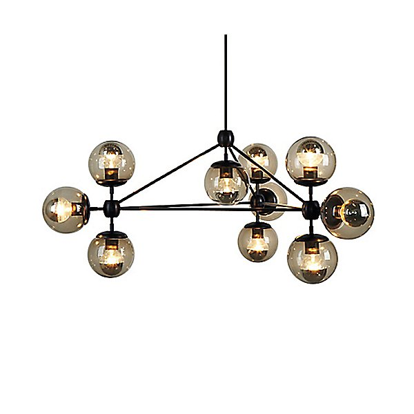 Modo 3 Sided Chandelier - 10 Globes