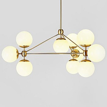 Cream Glass / Brushed Brass finish / illuminated