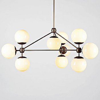 Cream Glass / Bronze finish / illuminated