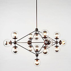 Modo 4 Sided Chandelier - 15 Globes