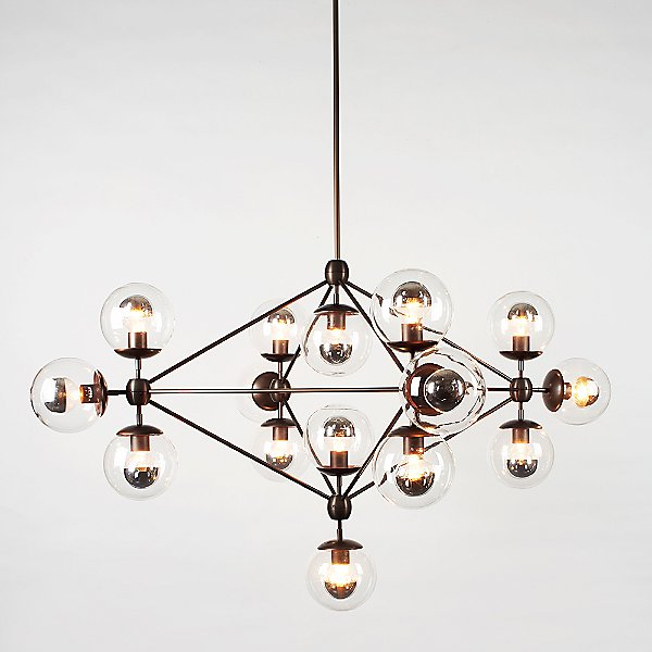 Modo 4 Sided Chandelier - 15 Globes