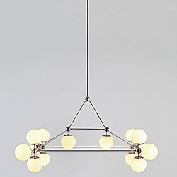 Modo Rectangle Chandelier - 14 Globes