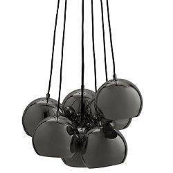 Ball Multi Chandelier (Black Chrome) - OPEN BOX RETURN
