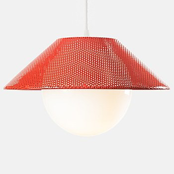 Shown lit in Red finish