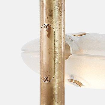 Shown lit in Mottled Brass finish