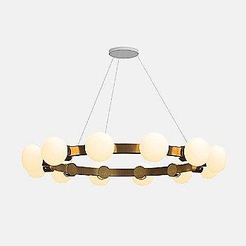 4-Feet / 12 Lights / Mottled Brass