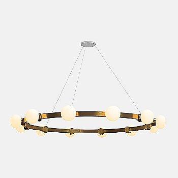 6-Feet / 12 Lights / Mottled Brass