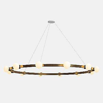 8-Feet / 12 Lights / Mottled Brass