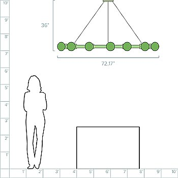 6-Feet / 12 Light option