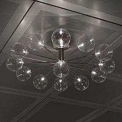 Cluster Wheel PL13 Semi-Flush Mount Ceiling Light