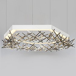 Hex Criss Cross LED Chandelier