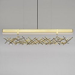 Level Criss Cross LED Linear Suspension Light