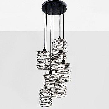 Nickel Plated / Black Cord Set