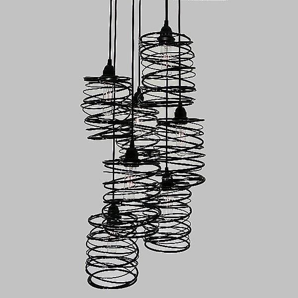Spiral Nest Cascading 7 Light Chandelier