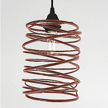 Copper Plated finish Black Cord Set